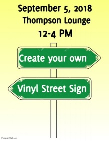 Create you own vinyl street sign