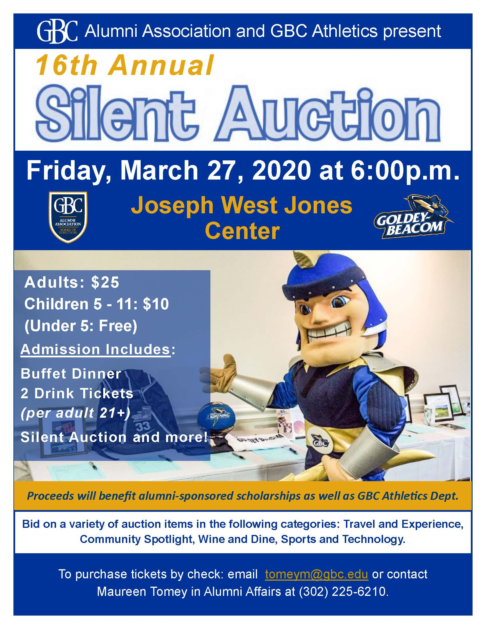 Silent Auction 2020 flyer