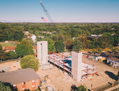 Construction of Franta Hall