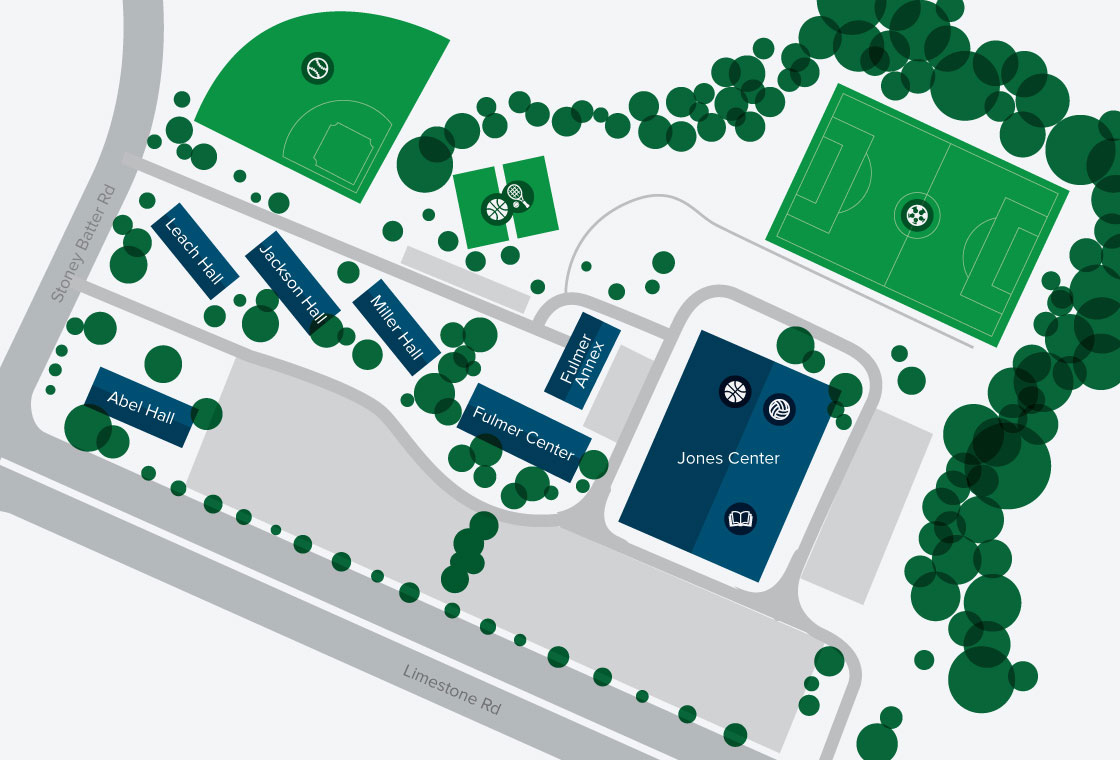 Map of GBC's Campus